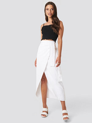 XLE the Label Paula Linen Look Skirt vit