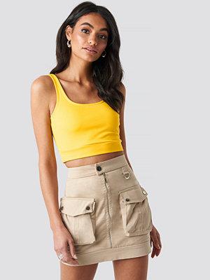 Hoss x NA-KD Cargo Mini Skirt beige