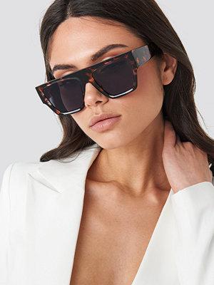 Hoss x NA-KD Square Tortoise Sunglasses brun