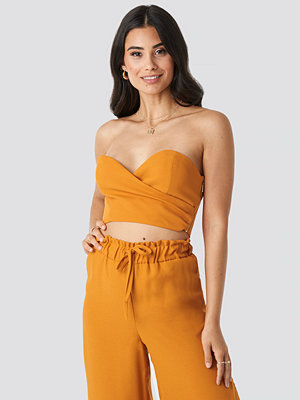 Adorable Caro x NA-KD Wrap Tube Top orange