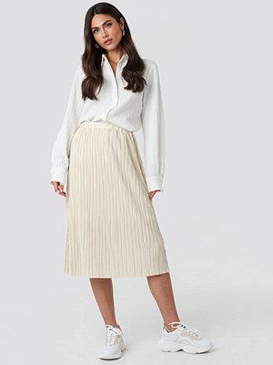 NA-KD Trend Plisse Skirt beige