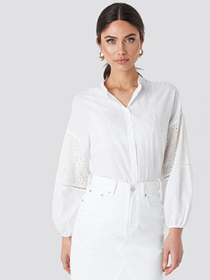 Trendyol Sleeve Detailed Shirt vit