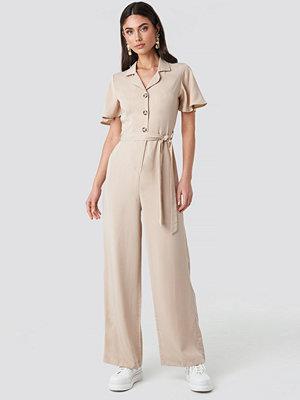 Jumpsuits & playsuits - Trendyol Carmen Binding Detailed Jumpsuit beige