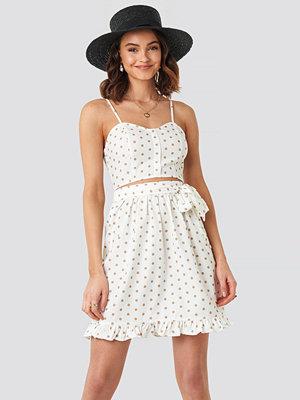 NA-KD Boho Self-Tie Dot Skirt vit