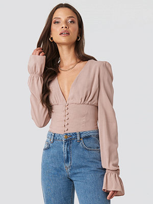 XLE the Label Emma Frill Sleeve Blouse rosa