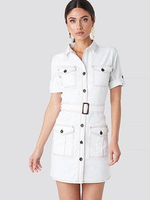 NA-KD Trend Utility Short Sleeve Dress vit