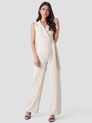 Jumpsuits & playsuits - Trendyol Double Breasted Jumpsuit beige