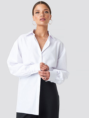Skjortor - Nicci Hernestig x NA-KD Oversized Shirt vit