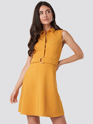 Trendyol Apricot Belt Detailed Midi Dress orange