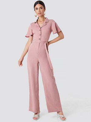 Trendyol Carmen Binding Detailed Jumpsuit rosa