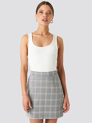NA-KD Classic Light Checkered Mini Skirt blå