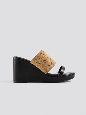 Pumps & klackskor - XLE the Label Kristin Cork Wedge svart