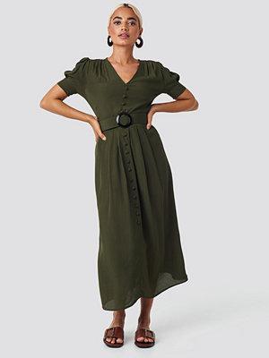 Trendyol Collar Detail Midi Dress grön