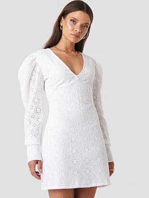 XLE the Label Arielle Puff Sleeve Dress vit