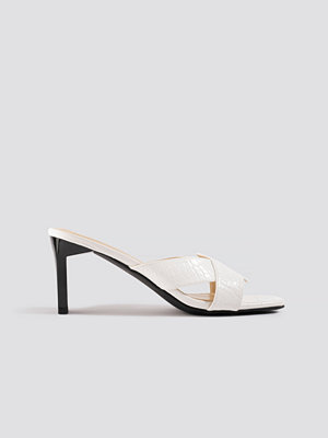 Pumps & klackskor - NA-KD Shoes Wavy Strap Mules vit