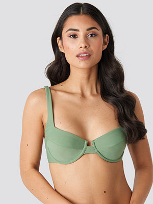 NA-KD Swimwear Bridge Detail Bikini Bra grön