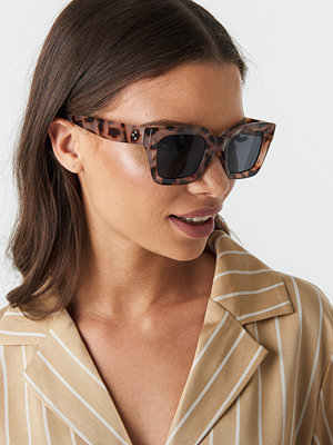 Solglasögon - NA-KD Accessories Square Frame Sunglasses brun