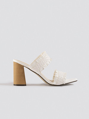 Pumps & klackskor - XLE the Label Parr Fringe Mules vit