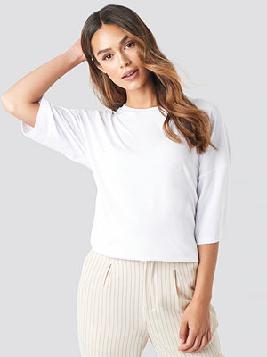 T-shirts - NA-KD Basic Oversized Viscose Tee vit