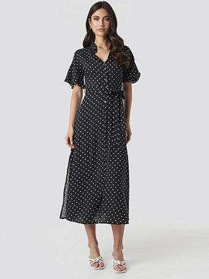 Trendyol Polka Dot Midi Dress svart