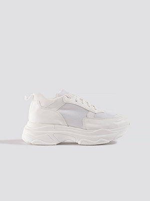 NA-KD Shoes Basic Chunky Trainers vit