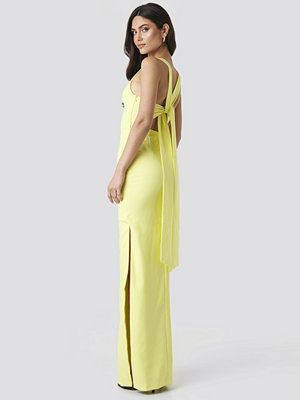 Trendyol Back Detail Evening Dress gul