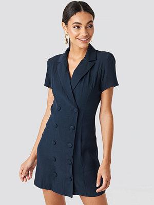 Glamorous Button Detail Mini Dress blå