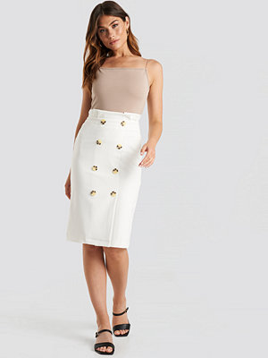 Trendyol Button Midi Skirt vit