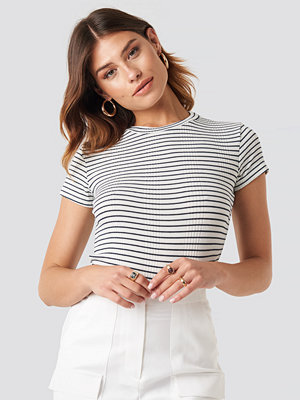 Trendyol Striped Crop Tee vit