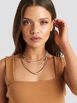 NA-KD Accessories smycke Fine Flat Chain Necklace guld