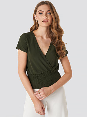 Sisters Point Githa Short Sleeve Blouse grön