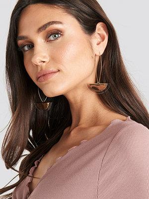 NA-KD Accessories smycke Halfmoon Drop Earrings guld