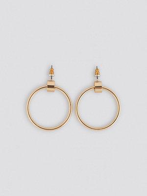 NA-KD Accessories smycke Hoop Stud Earrings guld