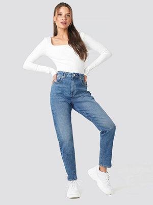 NA-KD Mom Jeans blå