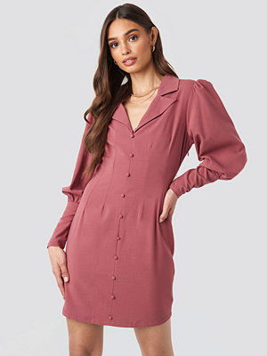 NA-KD Trend Button Front Mini Dress rosa