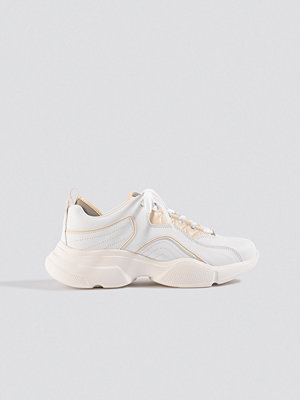 NA-KD Shoes Loop Lacing Trainers vit