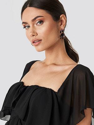 NA-KD Accessories smycke Wide Resin Hoop Earrings brun