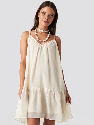 NA-KD Trend Thin Strap Short Dress beige