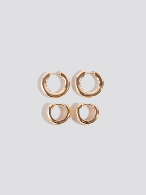 NA-KD Accessories smycke Mini Hoop Earrings guld