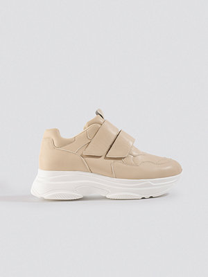 NA-KD Shoes Double Velcro Chunky Trainers beige