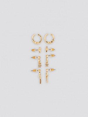 NA-KD Accessories smycke Mini Moon Cuff Set guld