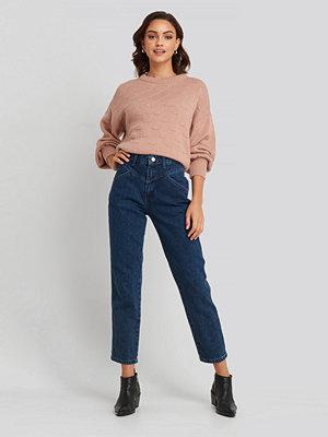 NA-KD Trend Front Yoke Jeans blå