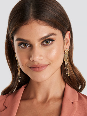 NA-KD Accessories smycke Multi Star Chain Earrings guld