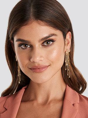 NA-KD Accessories smycke Multi Star Chain Earrings guld