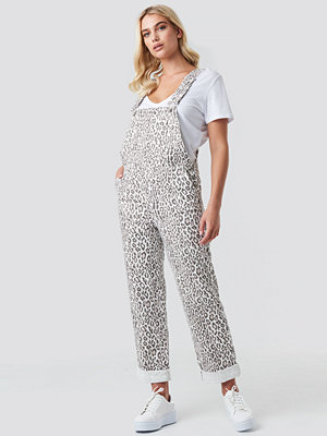 Jumpsuits & playsuits - NA-KD Faded Leo Dungarees multicolor