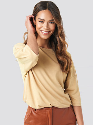 T-shirts - NA-KD Basic Oversized Viscose Tee beige