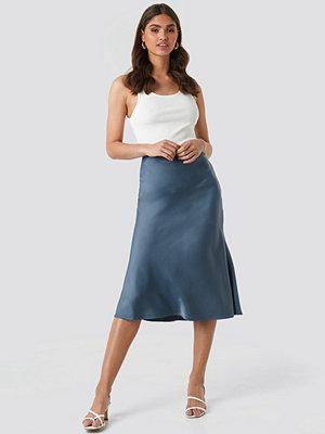 Kjolar - NA-KD Classic Satin Skirt blå