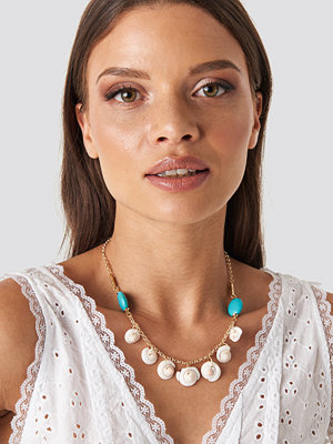 Trendyol smycke Seashell Binary Necklace guld