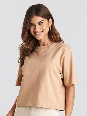 T-shirts - NA-KD Basic Oversize T-Shirt beige