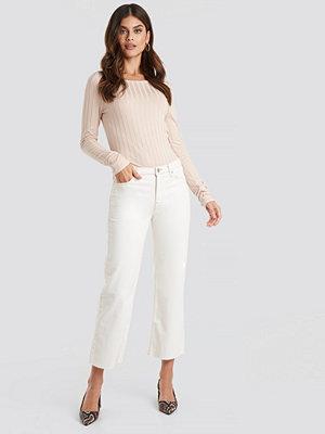 Jeans - Mango Pretty Jeans vit
